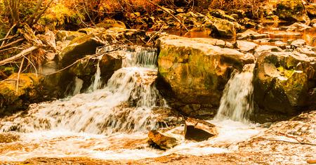 beautiful small waterfall Stock Photo