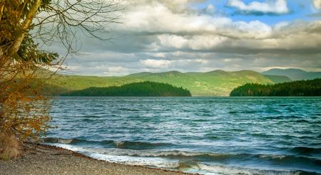 mahood 湖カナダ ブリティッシュ コロンビア州 写真素材