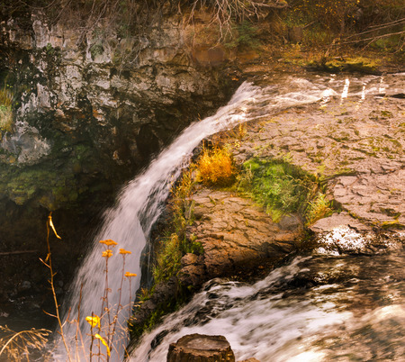 waterfall in canada british columbia Stock Photo