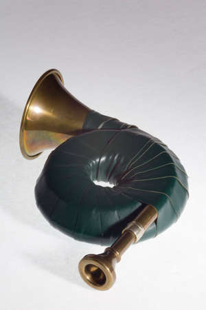 french horn: French horn Stock Photo