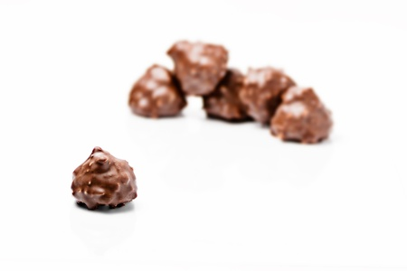 chocolates with nuts photo