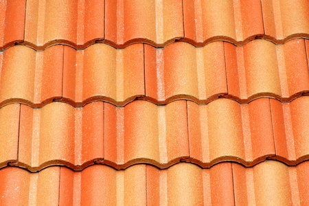 pattern of red roof on house  Stock Photo