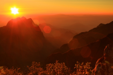 Beautiful sunset in Thailand : Chiangmai