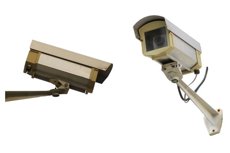 isolate CCTV Camera  photo