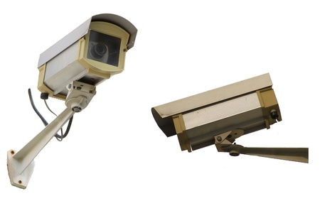 isolate CCTV Camera Stock Photo - 9680801