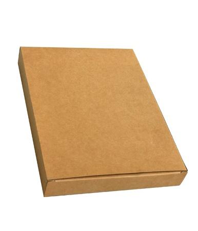 Isolated corrugated kraft paper Box  photo