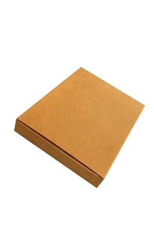 Isolated corrugated kraft paper Box Stock Photo - 9680790