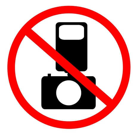 No photo and flash sign Stock Photo - 9915117