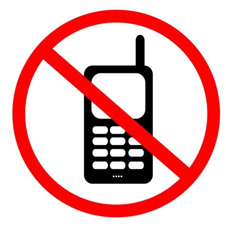 No mobile phone sign Stockfoto