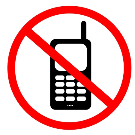No mobile phone sign Standard-Bild