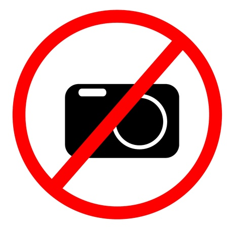 No photo and flash sign Stock Photo - 9915115