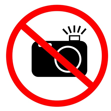 No photo and flash sign photo