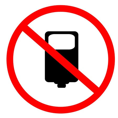 No photo and flash sign Stock Photo - 9915114
