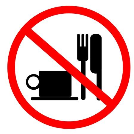 divieto: nessun segno di cibo e bevande Archivio Fotografico