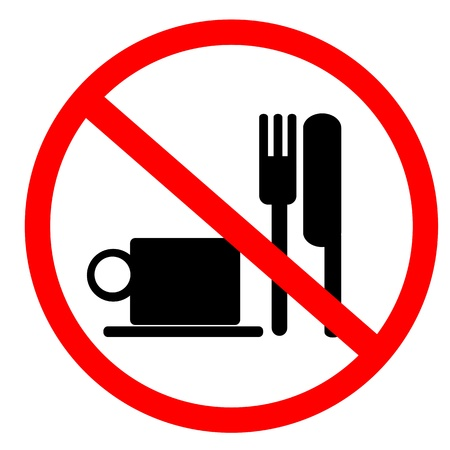 unhealthy food: no food and drink sign
