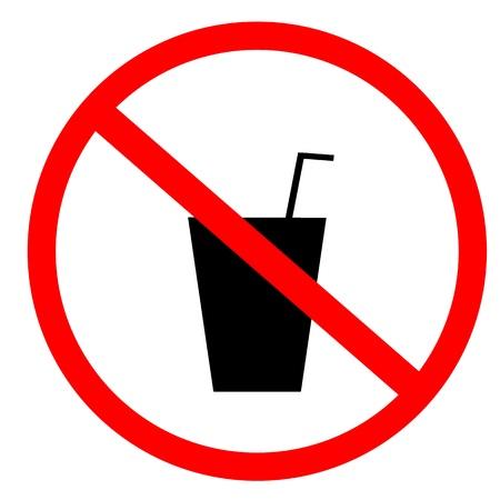 ningún signo de comida y bebida Foto de archivo