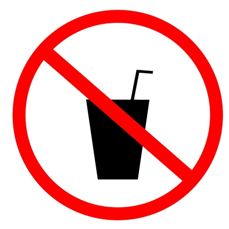 restrictions: no food and drink sign