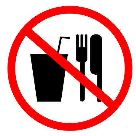 is prohibited: ning�n signo de comida y bebida