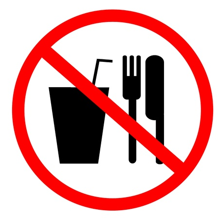 no food and drink sign photo