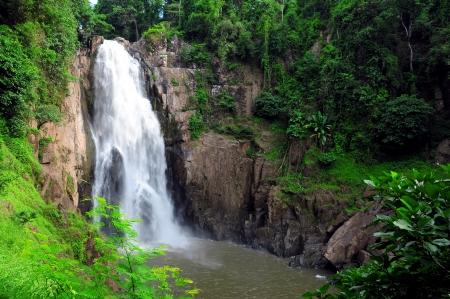clean environment: hew narok waterfall : beautiful waterfall in thailand at khaoyai national park