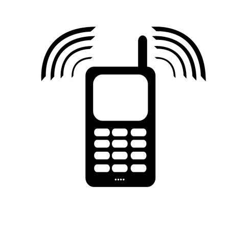 vibran: Ninguna se�al de tel�fono m�vil: por favor vibrar uso o modo silencioso Foto de archivo