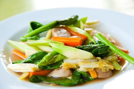 Stir-fried mix colorful vegetables and herb Stock Photo - 10280588