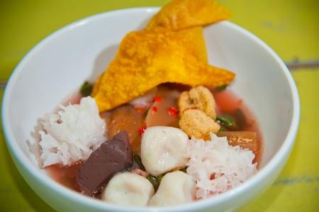 Seafood yong tau foo (rice noodles with fishball) photo