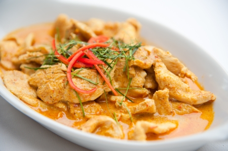 Dried red pork coconut curry  Panaeng    Delicious and famous Thailand food