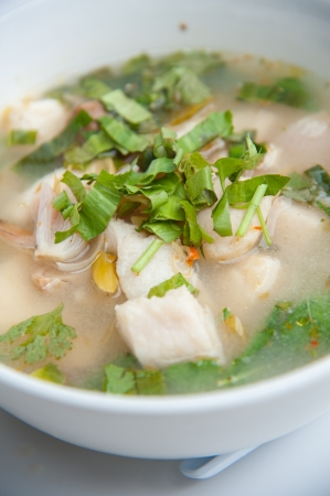 Seafood Tom yum   Famous traditional spicy Thailand food photo