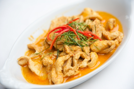 Dried red pork coconut curry  Panaeng    Delicious and famous Thailand food Stock Photo - 13915594