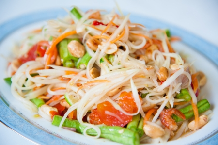 somtum: Somtum   Delicious and tradition Thai foods Stock Photo