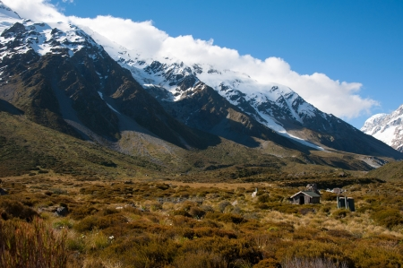 Beautiful view and glacier in Mount Cook National Park, South Island, New Zealand Stock Photo - 17240865