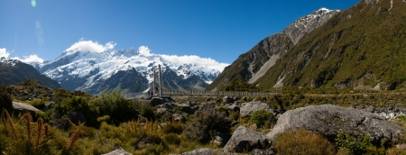 Beautiful view during walk to glacier in Mount Cook National Park, South Island, New Zealand Stock Photo - 17307240