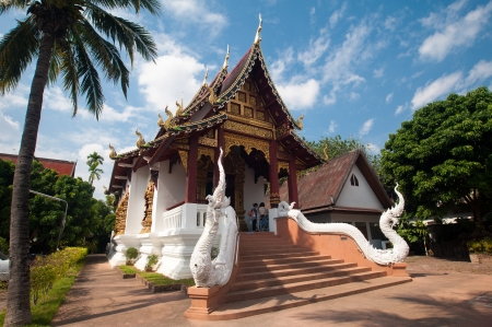 chiang mai: Beautiful temple and building at Chiangmai Thailand Stock Photo