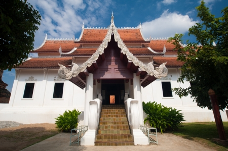 Beautiful temple and building at Chiangmai Thailand Stock Photo - 19087996
