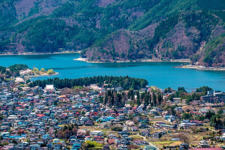 kawaguchi ko: Beautiful view of Kawaguchiko lake, Japan