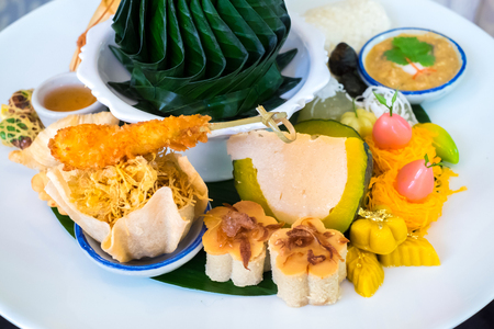 Beautiful and delicious of Afternoon Tea Set in Thai Style