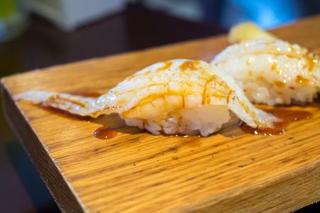 seaweeds: Engawa Sushi (Fish fin sushi), traditional Japanese food