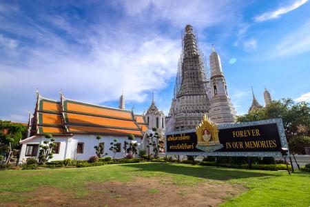Thailand famous temple near Chao Phraya River, Wat Arun Ratchawararam, Bangkok, Thailand