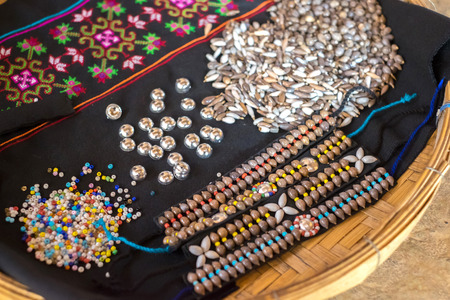 Ingredient of Thailands tribal traditional decorations Stock Photo