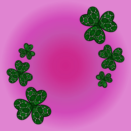 three leaved: clover shamrock as a symbol of holiday St. Patricks Day in Ireland.