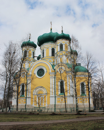 Gatchina Pavlovsk cathedral in Gatchina, in the spring of 2016.