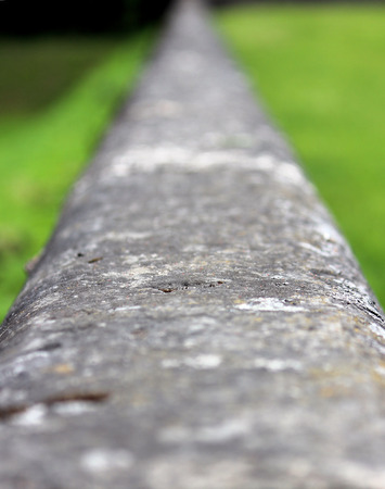 17th century: texture the railing in the Gatchina, built of stone Pudozh. 17th century Stock Photo