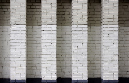 textura: Grey and white brick wall texture background. Moscow.