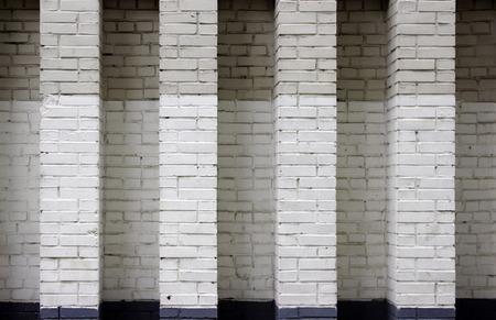 textura: muro di mattoni texture di sfondo grigio e nero. Mosca. Archivio Fotografico