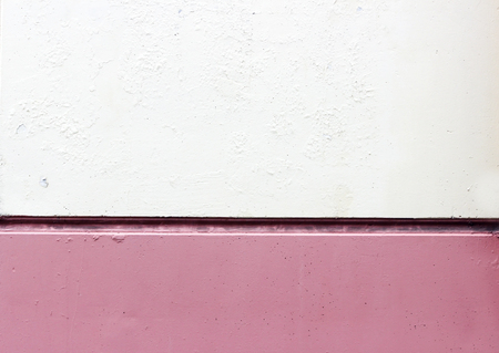 auroral: Wall tile with a horizontal seam, painted in white and pink color