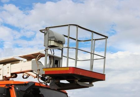 hydraulic lift heavy equipment machine is working.
