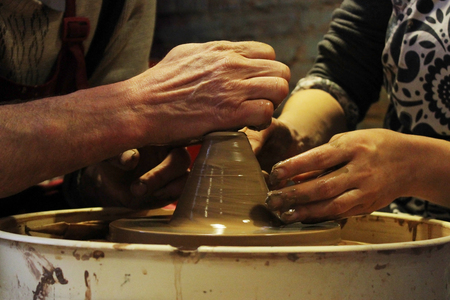 teaches: experienced master potter teaches the art of making pots of clay on the potters wheel.