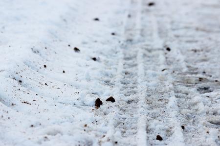 threw: trace of the tread on snow machines.