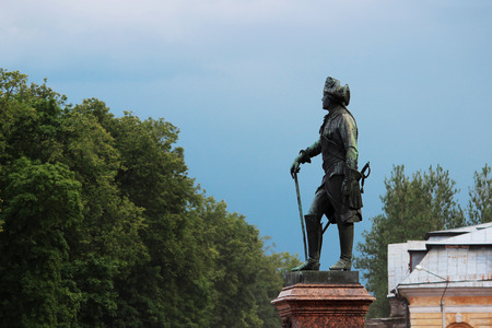 A monument to Emperor Pavel the First by sculptor Vitali, in Gatchina. Russia. Editorial